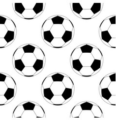 soccer ball black and white flat icon seamless vector image