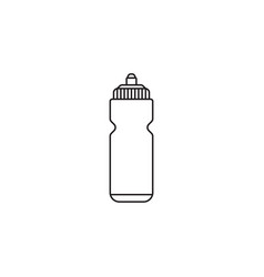 Sport bottle water line icon hydro flask vector