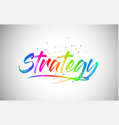Strategy creative vetor word text with vector
