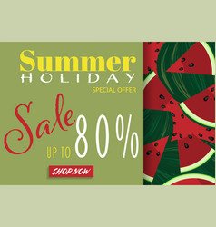 summer holiday sale banner template vector image