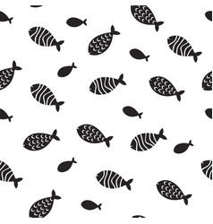 Swimming fish seamless pattern small vector