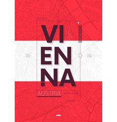 typography graphics color poster with a map of vector image