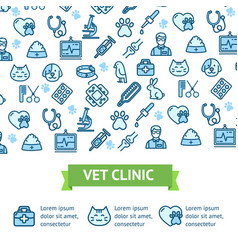 Veterinary clinic signs banner horizontal vector