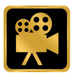 video camera button vector image
