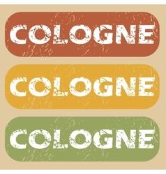 Vintage Cologne stamp set vector image