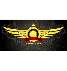 vintage gold emblem vector image