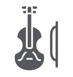 Violin glyph icon music and instrument cello vector