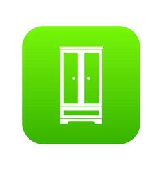 wardrobe icon digital green vector image