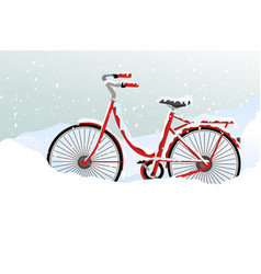 winter transport issues hello winter background vector image