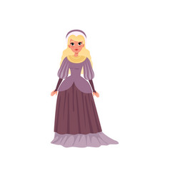 young woman in medieval dress vector image