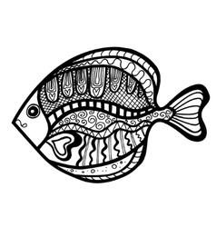 Zentangle stylized Fish vector