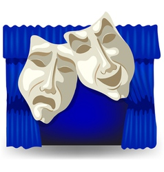 Allegory masks vector image