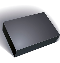 Package black box design isolated on white vector image vector image