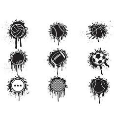 splatter balls icon vector image vector image