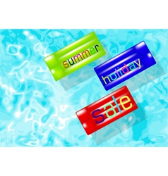 summer holiday sale vector image vector image