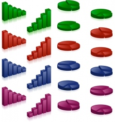 3d charts vector image vector image