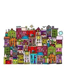 European city sketch for your design vector image