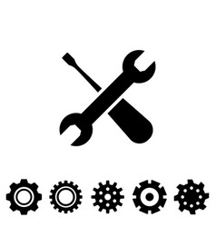 service tool icons with spanner vector image vector image