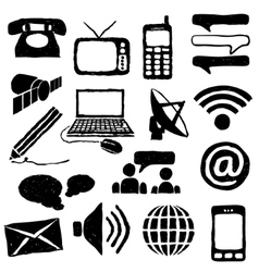 doodle communication images vector image
