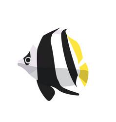 fish icon flat ocean or sea vector image