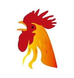 Isolated rooster vector image vector image