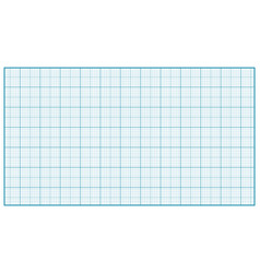 millimeter paper blue graphing paper for vector image vector image