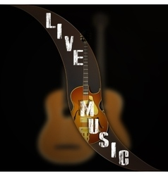 music background wave separates the jazz guitar vector image vector image
