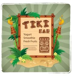 Retro Tiki bar sign vector image