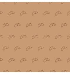 Seamless croissant pattern food vector image vector image