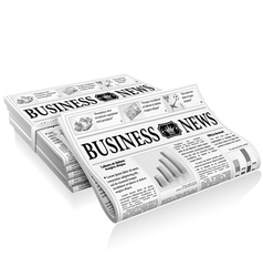 Concept - Business News vector image vector image
