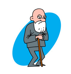 disappointed old man vector image vector image