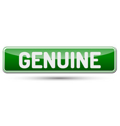 Genuine - abstract beautiful button with text vector