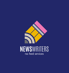 news writers rss feed services abstract vector image vector image