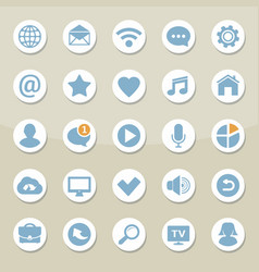 set of universal web icons for media vector image
