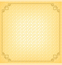yellow chinese little fan abstract background vector image