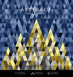 Abstract architecture concept colorful triangles vector image