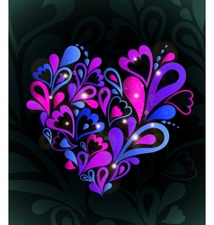 Abstract heart colorful vector