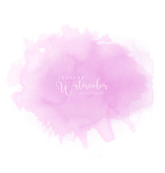 abstract isolated soft pink watercolor vector image