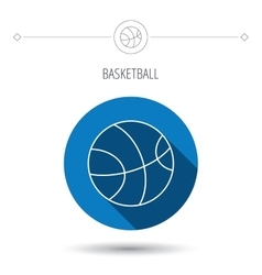 Basketball icon Sport ball sign vector image