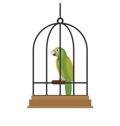 Bird pet shop icon vector