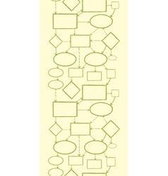 Blank mind map vertical seamless pattern vector
