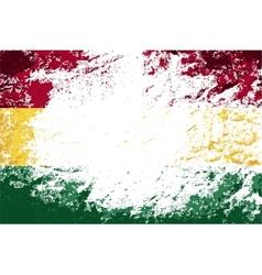 Bolivian flag Grunge background vector