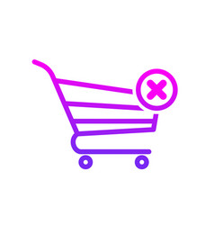 buy cart disable error shop store icon vector image
