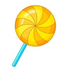 Candy on a stick icon cartoon style vector image