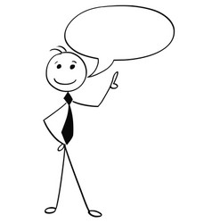 cartoon of male man with empty speech bubble vector image