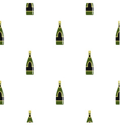 Champagne bottle pattern seamless vector