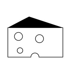 Cheese slice icon image vector