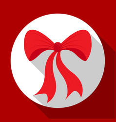 christmas bell icon on red background with long vector image