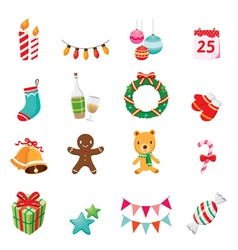 Christmas Ornaments Icons Set vector