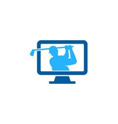 computer golf logo icon design vector image